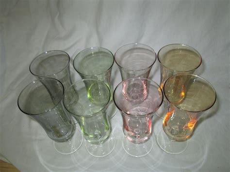 Vintage Barware by Vintage Set Of 8 Iridescent Stemmed Glasses Drinkware