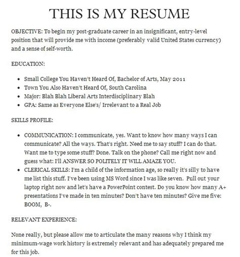 joke letter templates the 20 funniest resume fails of all time pophangover