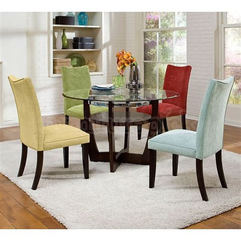 Colored Dining Table Dining Room Sets With Colored Chairs Marceladick