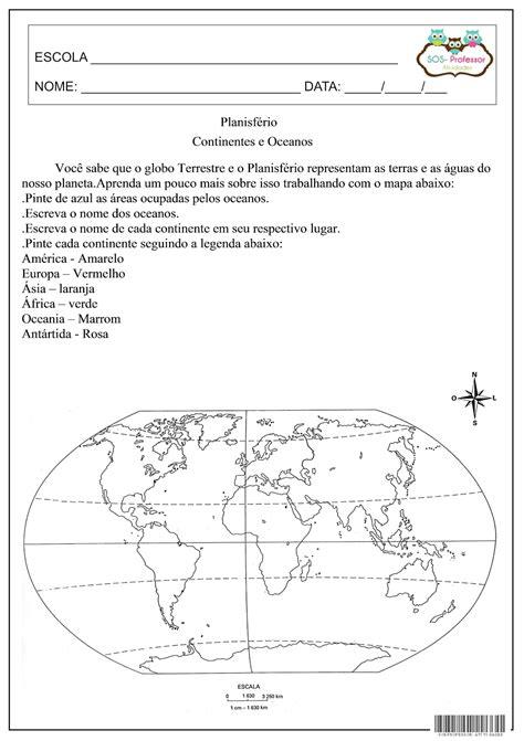 SOS PROFESSOR-ATIVIDADES: Geografia | Continentes e