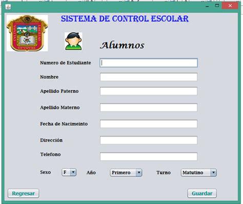 sistema de control de formularios sistemade control escolar