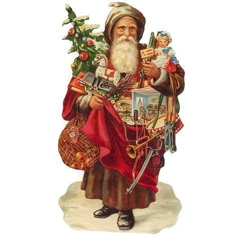 large victorian santa toys scrap germany new for 2012
