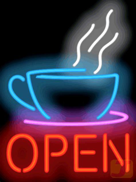 shop open sign lights neon coffee signs jantecneon com