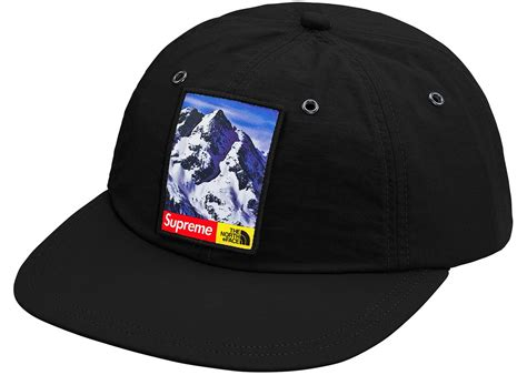 supreme cap supreme the mountain 6 panel hat black