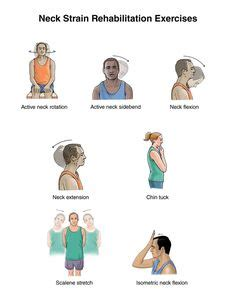 injury exercises slowly roll forward and back to stretch and strengthen the neck whiplash