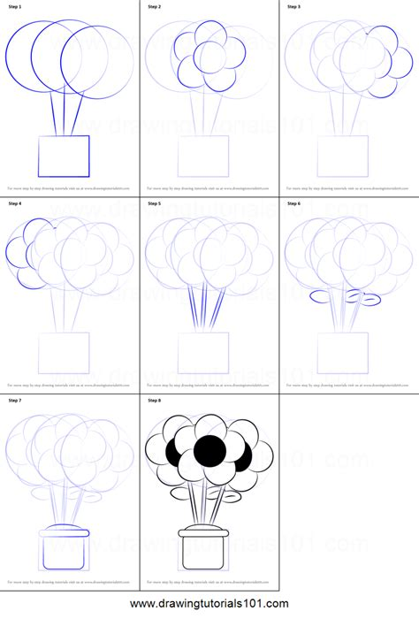 printable instructions for drawing flowers how to draw a flower pot printable step by step drawing