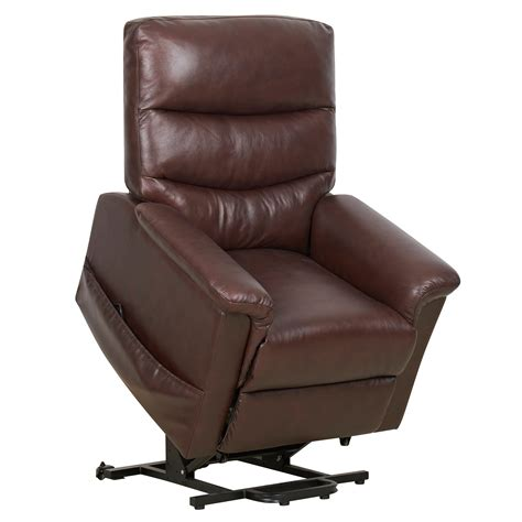 Recliners With Heat by Kenmure Leather Dual Motor Riser Recliner With Heat And
