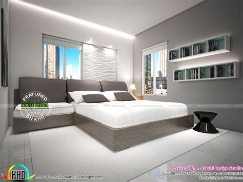 flat interior designs  kerala kerala home design