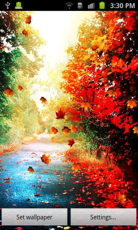 Fall Live Wallpaper Android by Free Touch Autumn Leaves Live Wallpaper Apk For