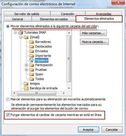 tutorial php imap config outlook 2013 deshabilitr carpetas solo este