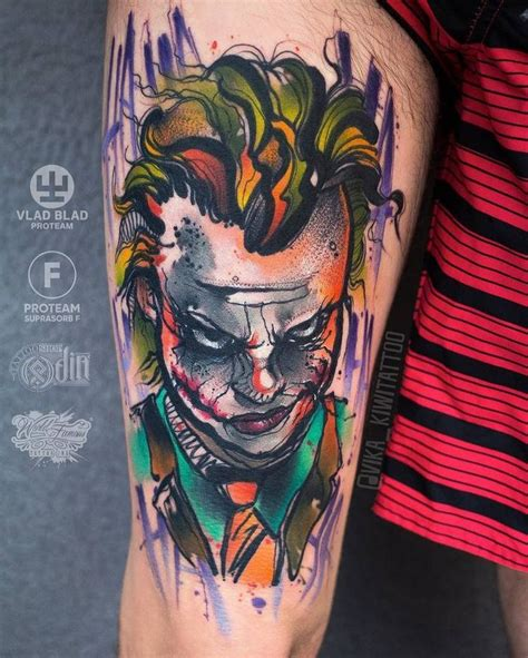 watercolor tattoo joker best 25 joker tattoos ideas on joker sucide