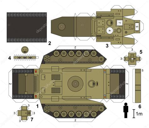 Papercraft Tanks - paper model of a tank stock vector 169 martin2015 91447180