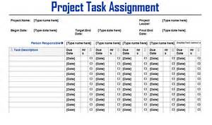 Project Management Assignment Template project task assignment word template microsoft project