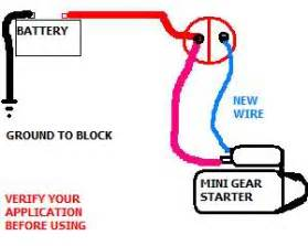 mini starter wiring help needed ford forums ford cars tech forum