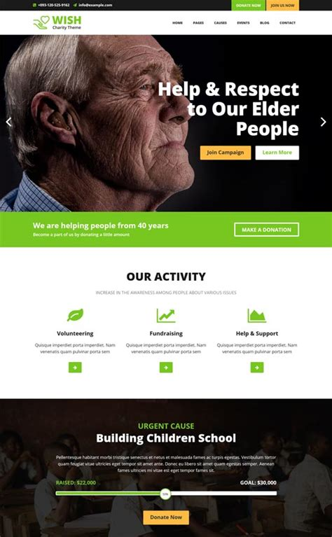 free bootstrap templates for ngo 50 best ngo charity website templates free premium
