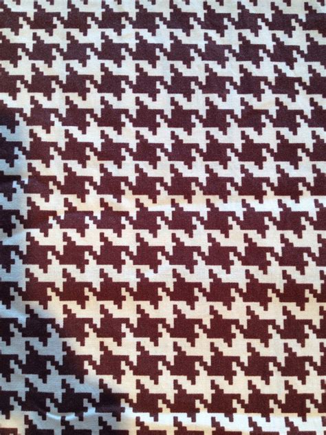 brown houndstooth pattern vintage cotton large vintage brown cream houndstooth cotton