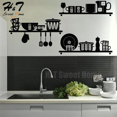 kitchen removable vinyl wall sticker decal mural cafe