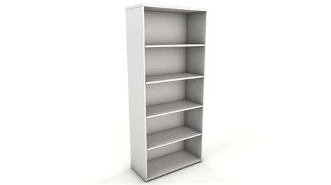 White Bookcase Icarus Office Furniture White Office Bookcase