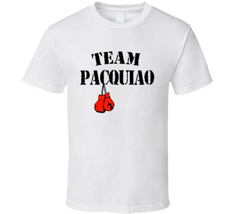 T Shirt Team Pacquiro team manny pacquiao boxing gloves mayweather front only t