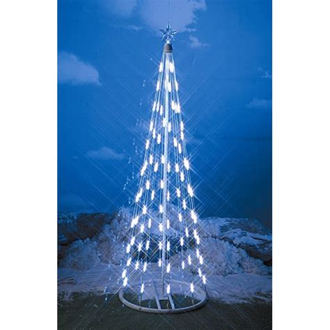 48 white led light string indoor christmas cone tree