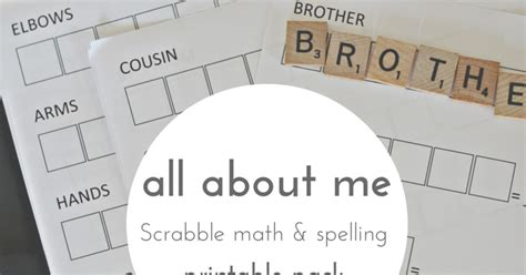 all about scrabble all about me scrabble math printable pack and next comes l