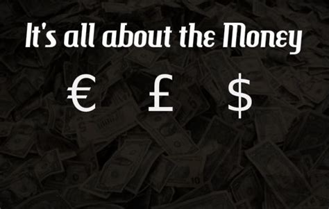 all about money big it s all about the money outside of the boot