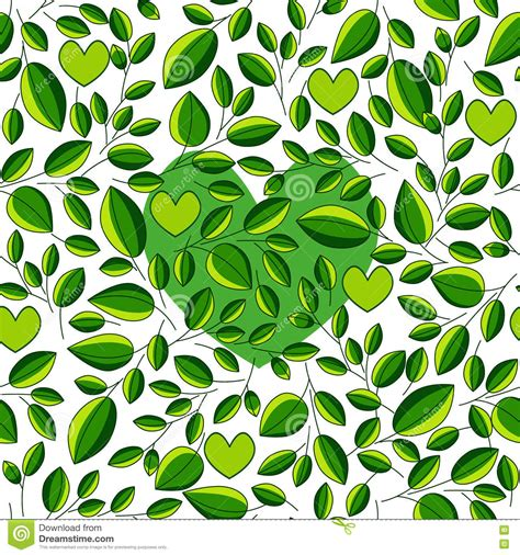 tea leaf pattern vector seamless ecological pattern with green tea leaf for
