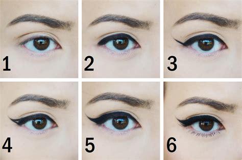tutorial membuat eyeliner natural 6 langkah membuat eyeliner bersayap tulisan wanita