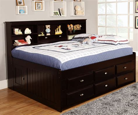 full size bed length full size bookcase captains day bed in espresso 2923