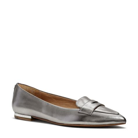 flat coach shoes coach flat in gray warm pewter lyst