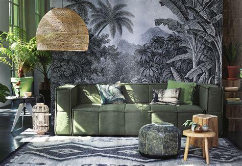 inrichting groen groen wanddecoratie woonkamer