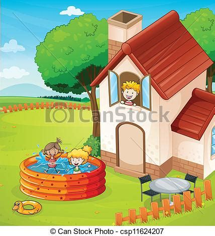 house drawing images www imgkid com the image kid has it vector clipart of a house and kids illustration of a