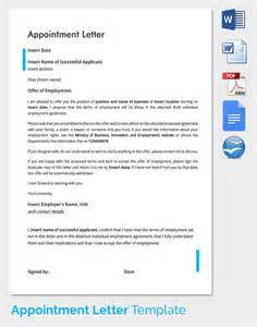Appointment Letter Purpose Appointment Letter Format For Accountant Free