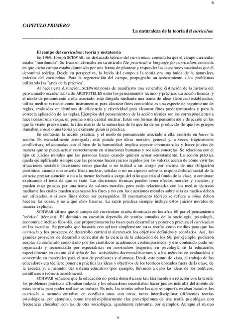 Modelo Curricular Joseph Schwab El Curriculum Alla De Una Teoria De La Reproduccion
