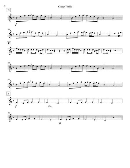 Cheap Thrills For Steel Band Sheet Music PDF Download