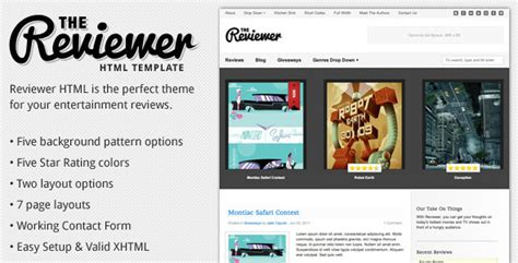 blogger templates for movie reviews reviewer html template for entertainment reviews by