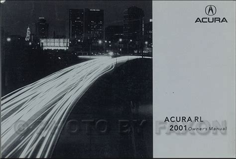 2001 acura rl owners manual original 3 5rl