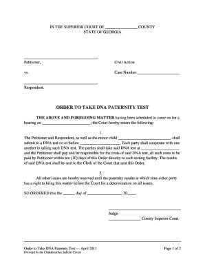 Fake Dna Paternity Test Fill Online Printable Fillable Blank Pdffiller Paternity Test Results Template