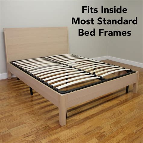 Wood And Metal Bed Frame Europa Size Wood Slat And Metal Platform Bed Frame 127007 5050 The Home Depot
