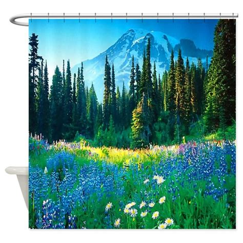 scenic curtains scenic mountain shower curtain by sportsmanhill