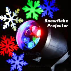 outdoor holiday light led snowflake projector white red