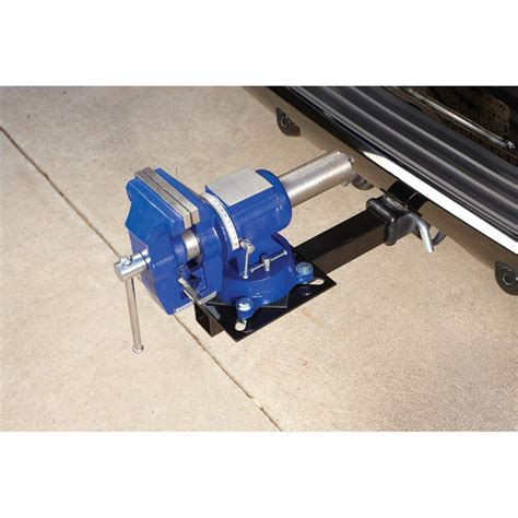 harbor freight bench vise hitch mount vise plate