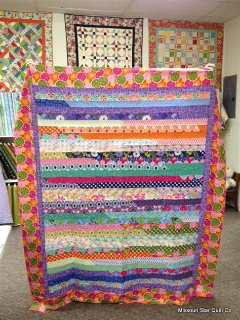 Jelly Roll Race Baby Quilt by Eye Candy A Pretty Jelly Roll Race Quilt