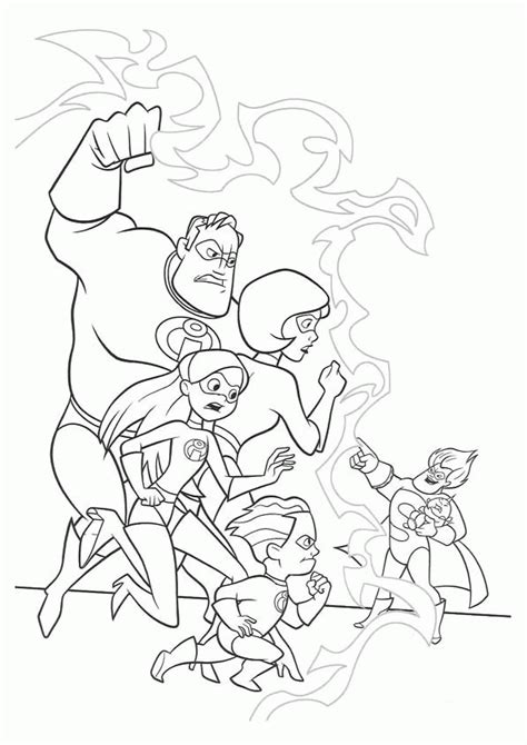 incredibles coloring pages coloringpages1001 com
