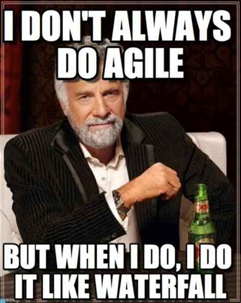 Agile Meme - development diva agile vs waterfall strategy