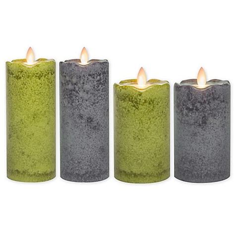 bed bath and beyond candles mirage 174 flickering flame led pillar candle bed bath beyond