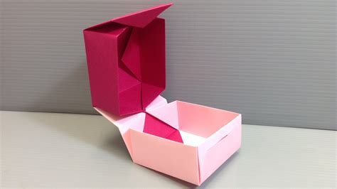 valentine origami tutorial lovers ring valentine s day origami hinge box with closure youtube
