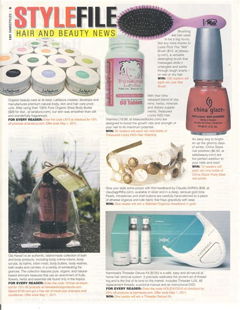 101 hairstyles magazine online hawaiian body products ola spot in 101 hairstyles magazine