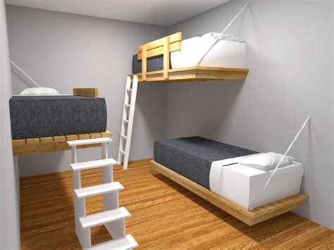 3 Bed Bunk Beds 3 In 1 Bunk Beds Popideas Co