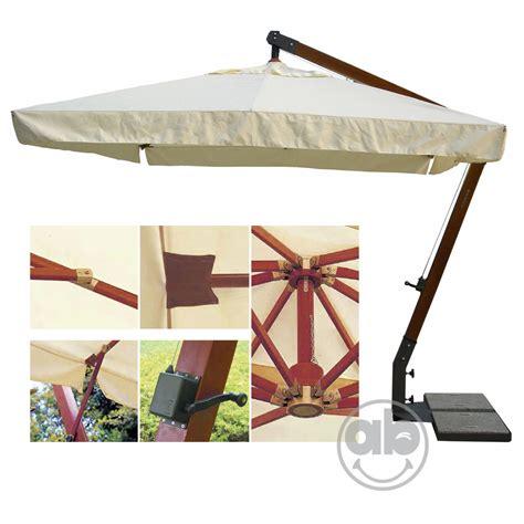 ombrellone da giardino decentrato ombrellone decentrato in legno 300x400 cm copertura ecr 249